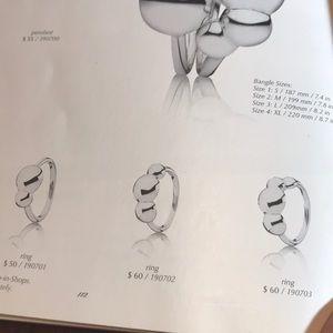 4685e8770 Pandora Jewelry   190702 Retired Liquid Silver 3bubble Ring   Poshmark